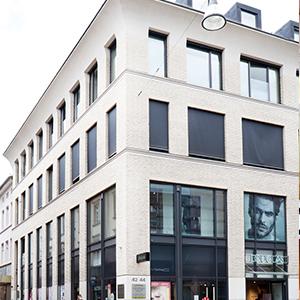 Hautcentrum Wiesbaden Gebäude Hausfassade Fußgängerzone